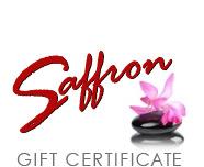 Saffron Gift Certificates